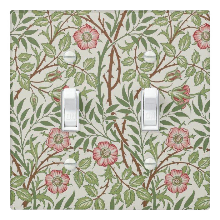 William Morris Sweet Briar Wallpaper Design Light Switch Cover Zazzle Com
