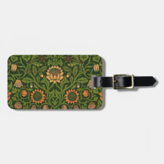 William Morris Tapestry Rug Red Green Carpet Asian Luggage Tag