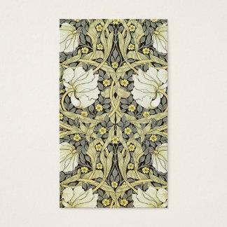 William Morris Textile  Pimpernel Business Card