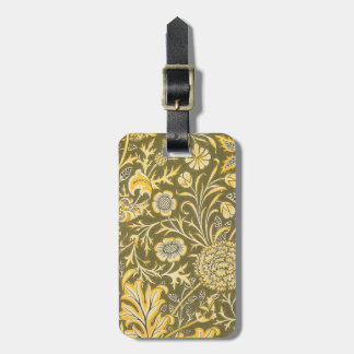 William Morris The Cherwell Design For Velveteen Luggage Tag