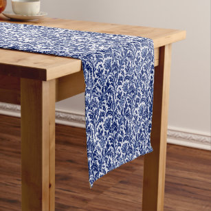 Vintage Blue And White Table Runners Zazzle