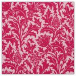 William Morris Thistle Damask, Fuchsia Pink Fabric