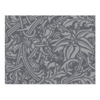 William Morris Thistle Floral Art Nouveau Pattern Postcard