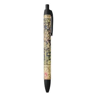 William Morris Tree Of Life Floral Vintage Art Black Ink Pen