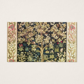 William Morris Tree Of Life Floral Vintage Art Business Card