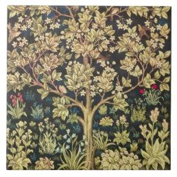 William Morris Tree Of Life Floral Vintage Art Ceramic Tile