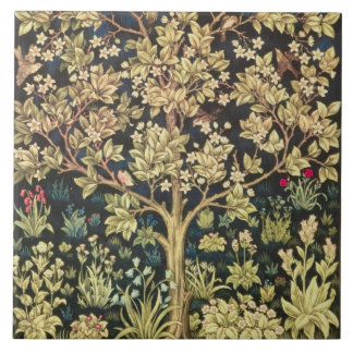William Morris Tree Of Life Floral Vintage Art Ceramic Tile