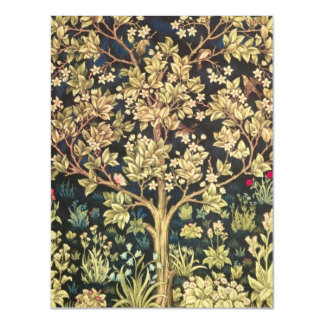 William Morris Tree Of Life Floral Vintage Art Magnetic Card