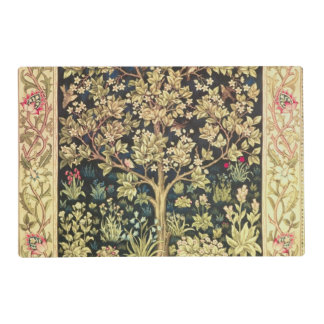 William Morris Tree Of Life Floral Vintage Art Placemat