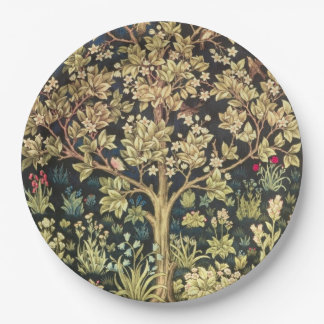William Morris Tree Of Life Floral Vintage Art 9 Inch Paper Plate