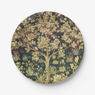 William Morris Tree Of Life Floral Vintage Art 7 Inch Paper Plate