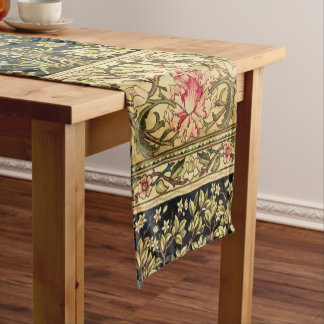 William Morris Tree Of Life Floral Vintage Art Short Table Runner