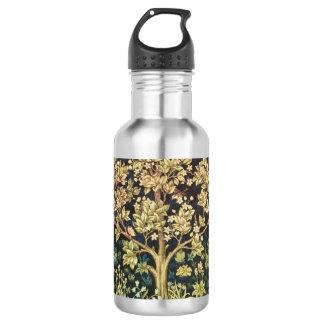 William Morris Tree Of Life Floral Vintage Art Stainless Steel Water Bottle