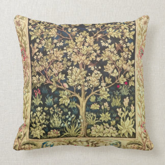 William Morris Tree Of Life Floral Vintage Art Throw Pillow