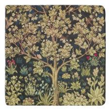 William Morris Tree Of Life Floral Vintage Art Trivet