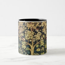 William Morris Tree Of Life Floral Vintage Art Two-Tone Coffee Mug