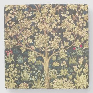 William Morris Tree Of Life Stone Beverage Coaster
