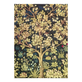 William Morris Tree Of Life Personalized Announcements