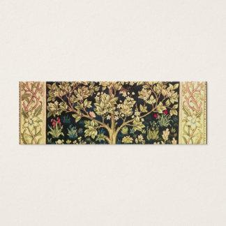 William Morris Tree Of Life Mini Business Card