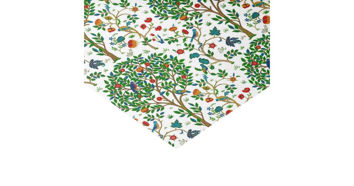William Morris Tree Of Life Pattern Green Multi Tissue Paper Custom Tree Of Life Pattern