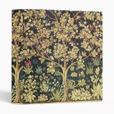 William Morris Tree Of Life Vintage Pre-Raphaelite 3 Ring Binder