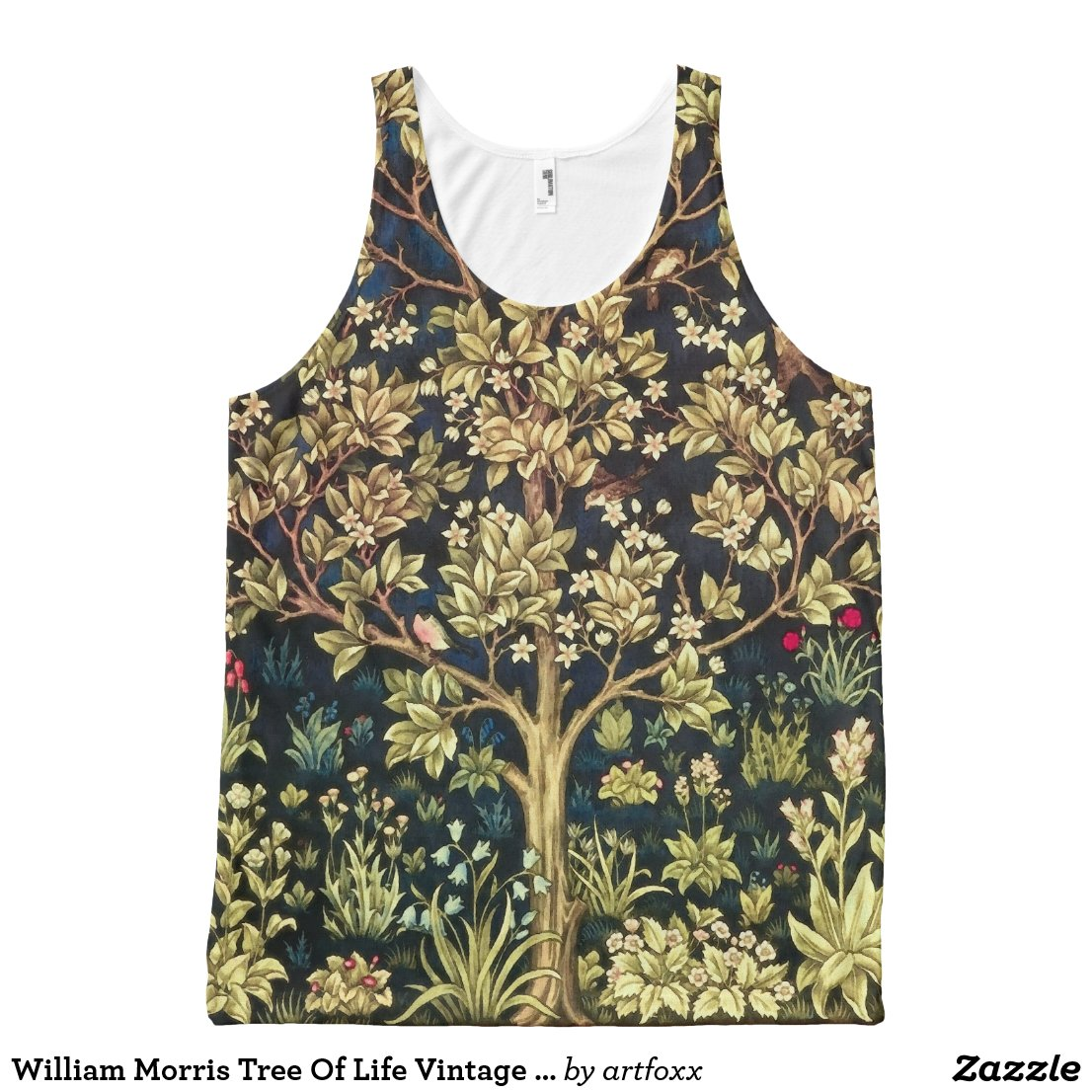 William Morris Tree Of Life Vintage Pre-Raphaelite All-Over-Print Tank Top