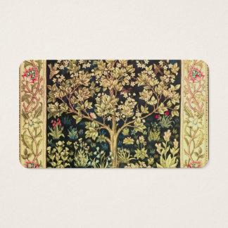 William Morris Tree Of Life Vintage Pre-Raphaelite Business Card