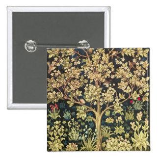 William Morris Tree Of Life Vintage Pre-Raphaelite Pins