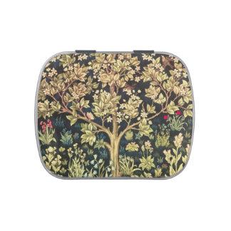 William Morris Tree Of Life Vintage Pre-Raphaelite Jelly Belly Candy Tin