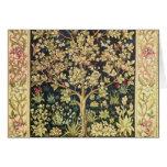 William Morris Tree Of Life Vintage Pre-Raphaelite Greeting Card