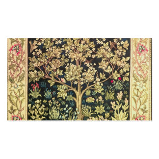 William Morris Tree Of Life Vintage Pre-Raphaelite Double-Sided Standard Business Cards (Pack Of 100)