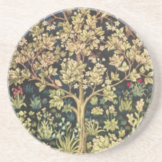 William Morris Tree Of Life Vintage Pre-Raphaelite Drink Coaster