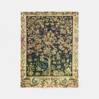 William Morris Tree Of Life Vintage Pre-Raphaelite Fleece Blanket