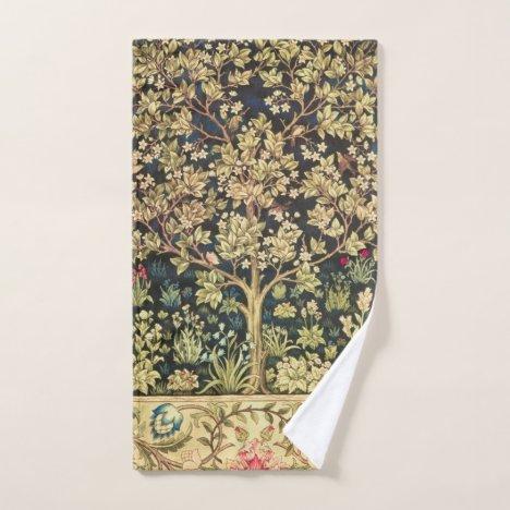 William Morris Tree Of Life Vintage Pre-Raphaelite Hand Towel