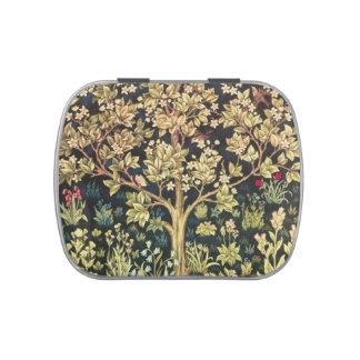 William Morris Tree Of Life Vintage Pre-Raphaelite Jelly Belly Tin