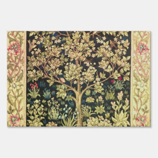 William Morris Tree Of Life Vintage Pre-Raphaelite Lawn Sign