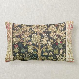 William Morris Tree Of Life Vintage Pre-Raphaelite Lumbar Pillow