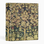 William Morris Tree Of Life Vintage Pre-raphaelite Mini Binder at Zazzle