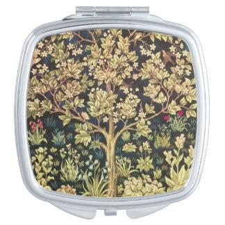 William Morris Tree Of Life Vintage Pre-Raphaelite Travel Mirror