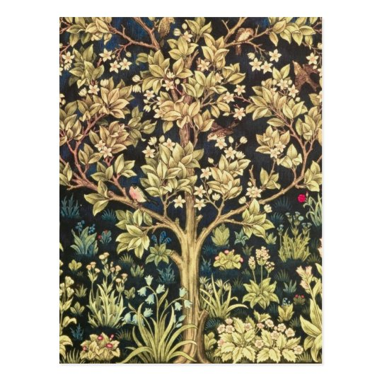 William Morris Tree Of Life Vintage Pre-Raphaelite Postcard