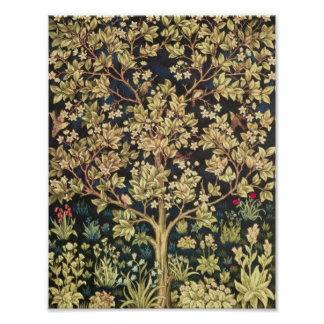 William Morris Tree Of Life Vintage Pre-Raphaelite Poster