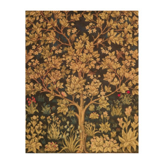 William Morris Tree Of Life Vintage Pre-Raphaelite Cork Paper Print