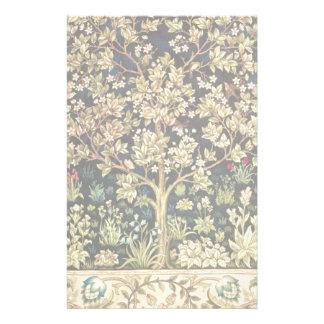 William Morris Tree Of Life Vintage Pre-Raphaelite Stationery Design