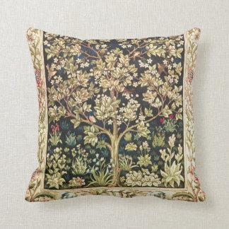 William Morris Tree Of Life Vintage Pre-Raphaelite Throw Pillow