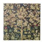 William Morris Tree Of Life Vintage Pre-Raphaelite Small Square Tile