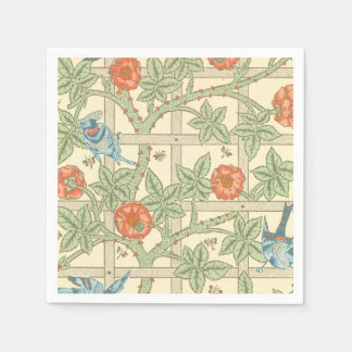 William Morris Trellis Pattern Paper Napkin