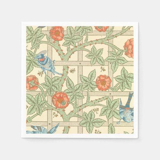 William Morris Trellis: William Morris Trellis Pattern Paper Napkin