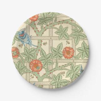 William Morris Trellis Pattern Paper Plate
