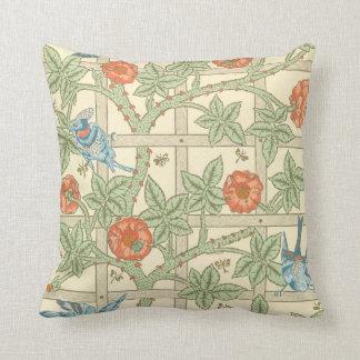 William Morris Trellis Pattern Pillow