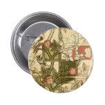 William Morris - Trellis Pinback Button